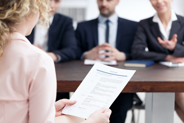 Woman interviewing for a job. staffing agency in rochester ny
